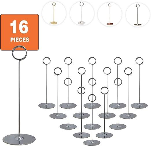 Banquets Weddings Set of 16 Urban Deco Place Card Holder Table Number Holder 1.5 inch Black For Restaurants