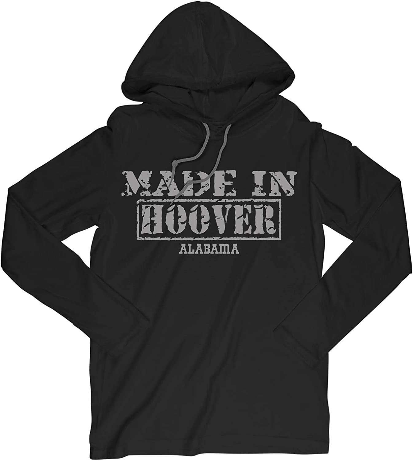 Retro Vintage Style Made in Alabama, Hoover Hometown Long Sleeve Hooded T-Shirt