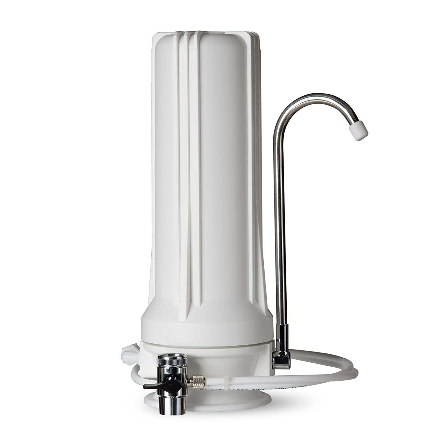 iSpring CT10 multi-stage countertop water filter system clear water dispenser with faucet adapter