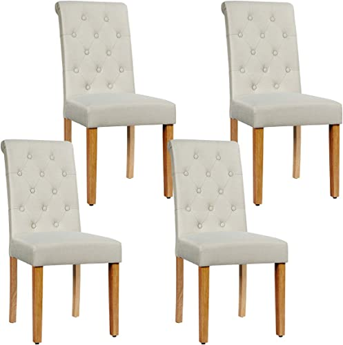 Giantex Upholstered Accent Dining Chairs Set of 4