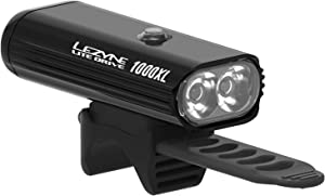 LEZYNE Lite Drive 1000XL Bicycle Headlight, Very Bright 1000 Lumens, 87 Hour Runtime, USB Rechargeable, High Performance LED Headlight for Mountain & Road Bikes