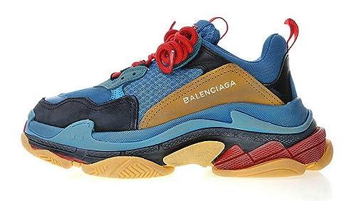 Balenciaga Triple-S Trainer Laker Blue Brown Zapatillas de Running para Hombre Mujer: Amazon.es: Zapatos y complementos