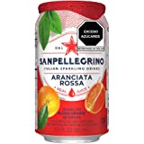 Agua Mineral sabor Naranja Roja, San Pellegrino, Aranciata Rossa, 330 ml, Paquete de 12