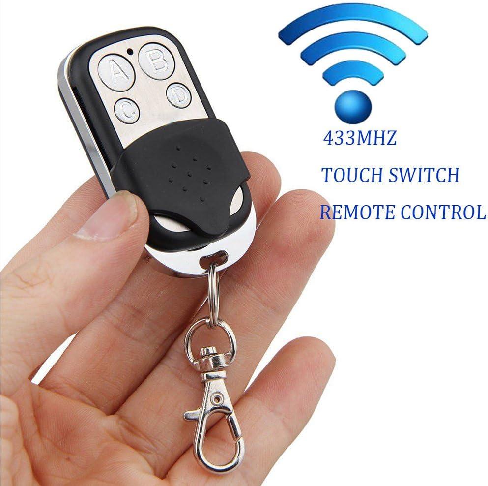 Boger 4 canales inal/ámbricos RF de control remoto 433 MHz puerta de la puerta el/éctrica de control remoto de control de tecla Fob