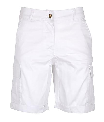 Noroze Women's Cotton Combat Cargo Chino Shorts