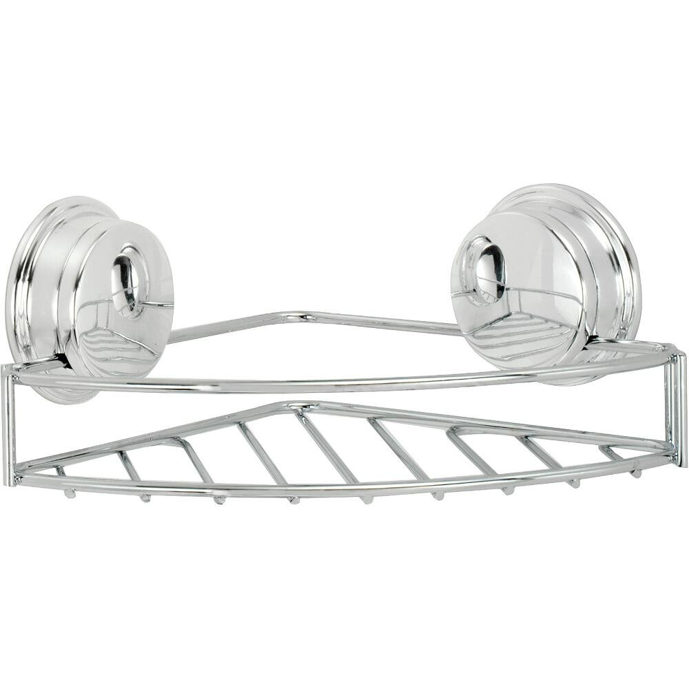 Croydex Stick-n-Lock Corner Soap Basket QM380941