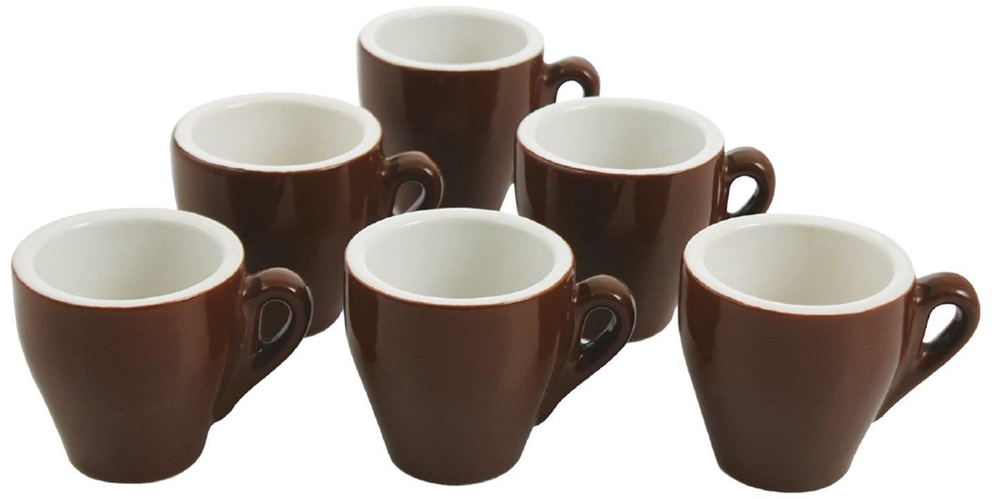 Galileo Casa 2150013 6-piece espresso Cup Espresso Bar Set, brown