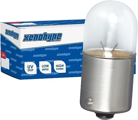 10x R5w Xenohype Premium Ba15s 24v 5 Watt Lkw Kugellampe Auto