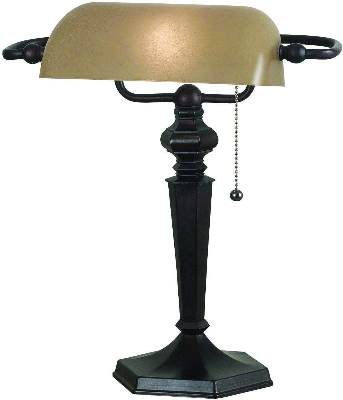 Kenroy Home Classic Banker Lamp, 15.5 Inch Height, 13 Inch Width, 10.5 Inch Ext. with Oil Rubbed Bronze Finish
