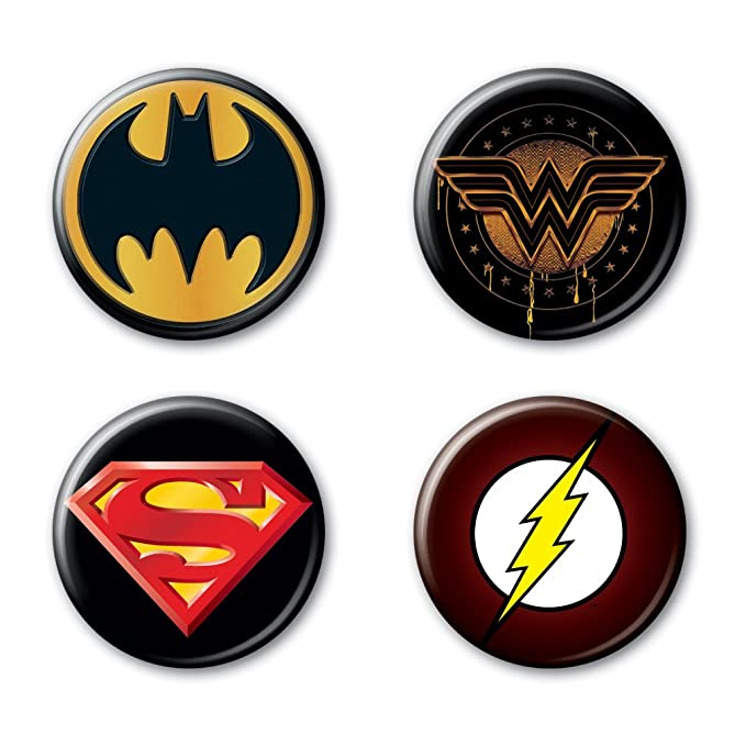 "Ata-Boy DC Comics Originals Justice League Dark Logos Set of 4 1.25"" Collectible Buttons"