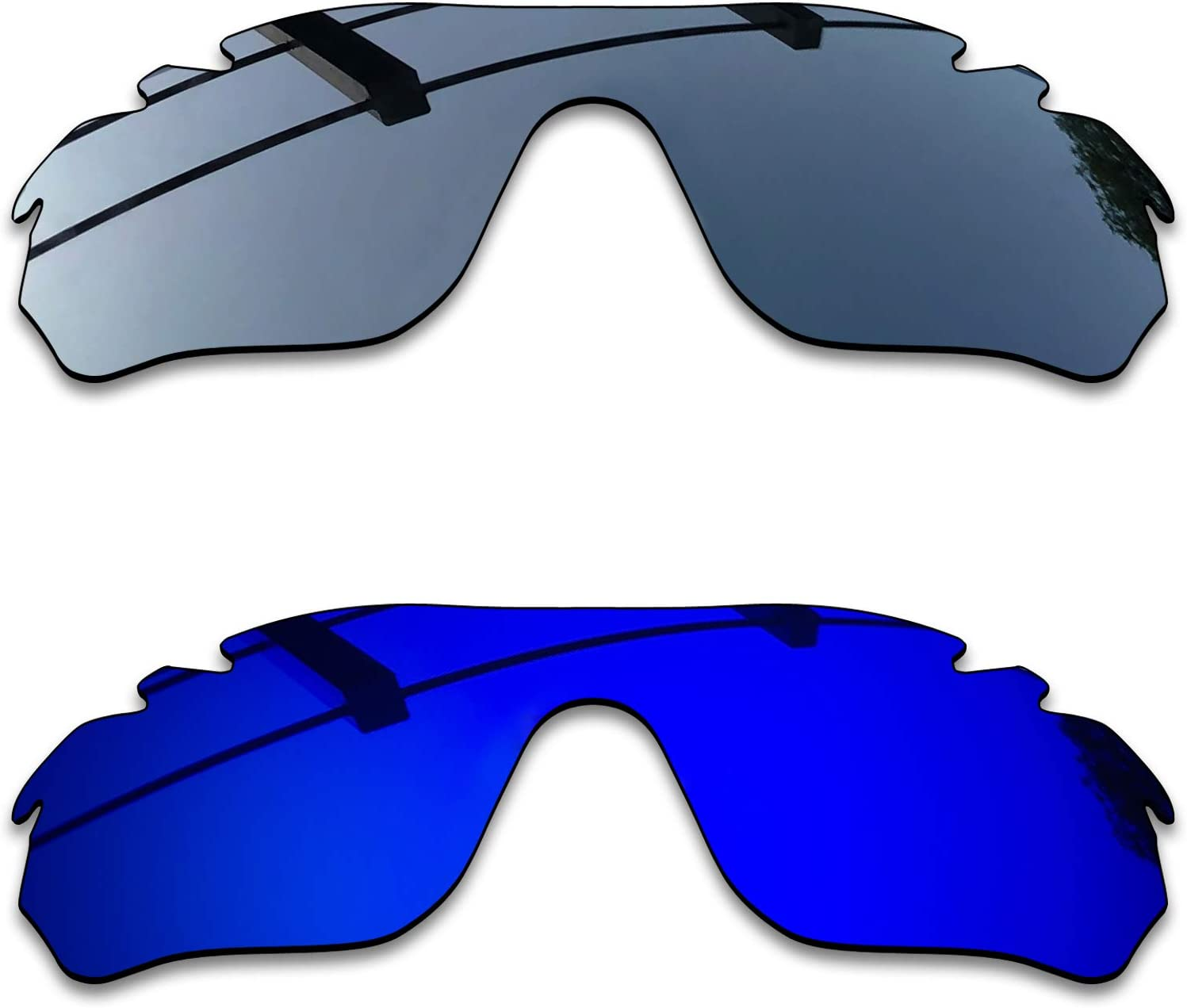 SEEABLE Premium Polarized Mirror Replacement Lenses for Oakley RadarLock Edge Vented OO9183 Sunglasses