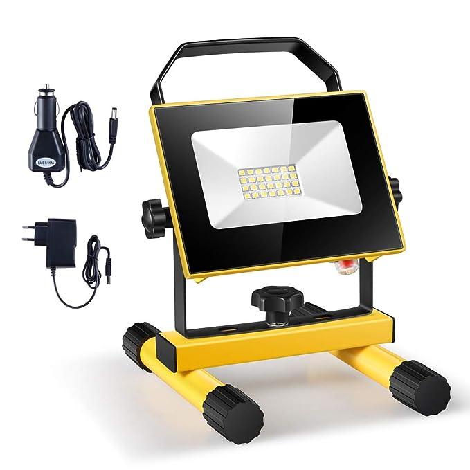 6 opinioni per Eslas Lampada da lavoro a LED Ricaricabile,Lampada da lavoro a mano all'aperto