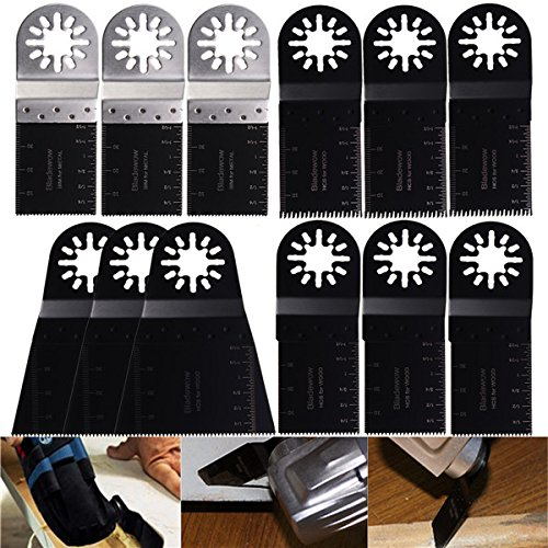 Pukido 12pcs Multitool Blades for Fein Multimaster Bosch Makita Oscillating Multitools Oscillating Tools by Pukido (Image #2)