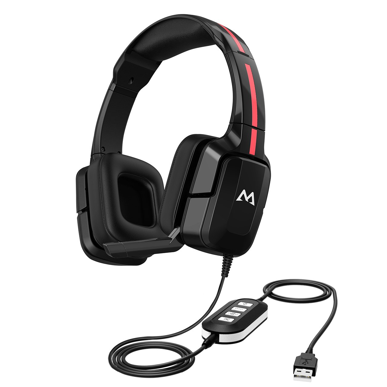 Mpow USB/3.5mm Computer Headset with Noise Canceling Microphone, Lightweight USB Headphones for Comfort, Over Ear Skype Headphones with in-line Volume Control for Office, Business, Call Center by Mpow