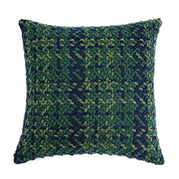 Amazon Homier Red Green Wool Blend Decorative Pillow Cover Impressive Dark Green Decorative Pillows