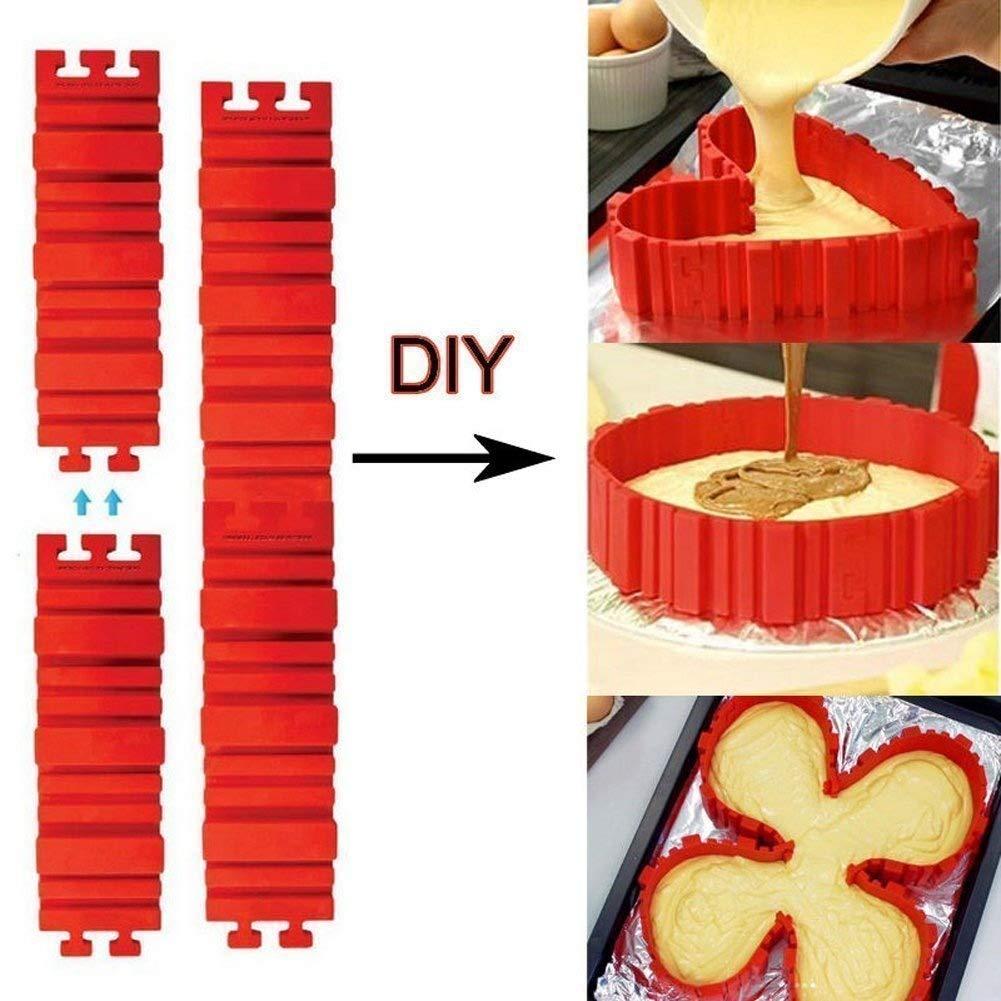 Anillos para tartas Bake Snakes Silicona Cake Moldes Hornea r Diy Todas las clases de molde de la torta Herramientas de hornear Hornear utensilios de molde pasteler/ía herramientas