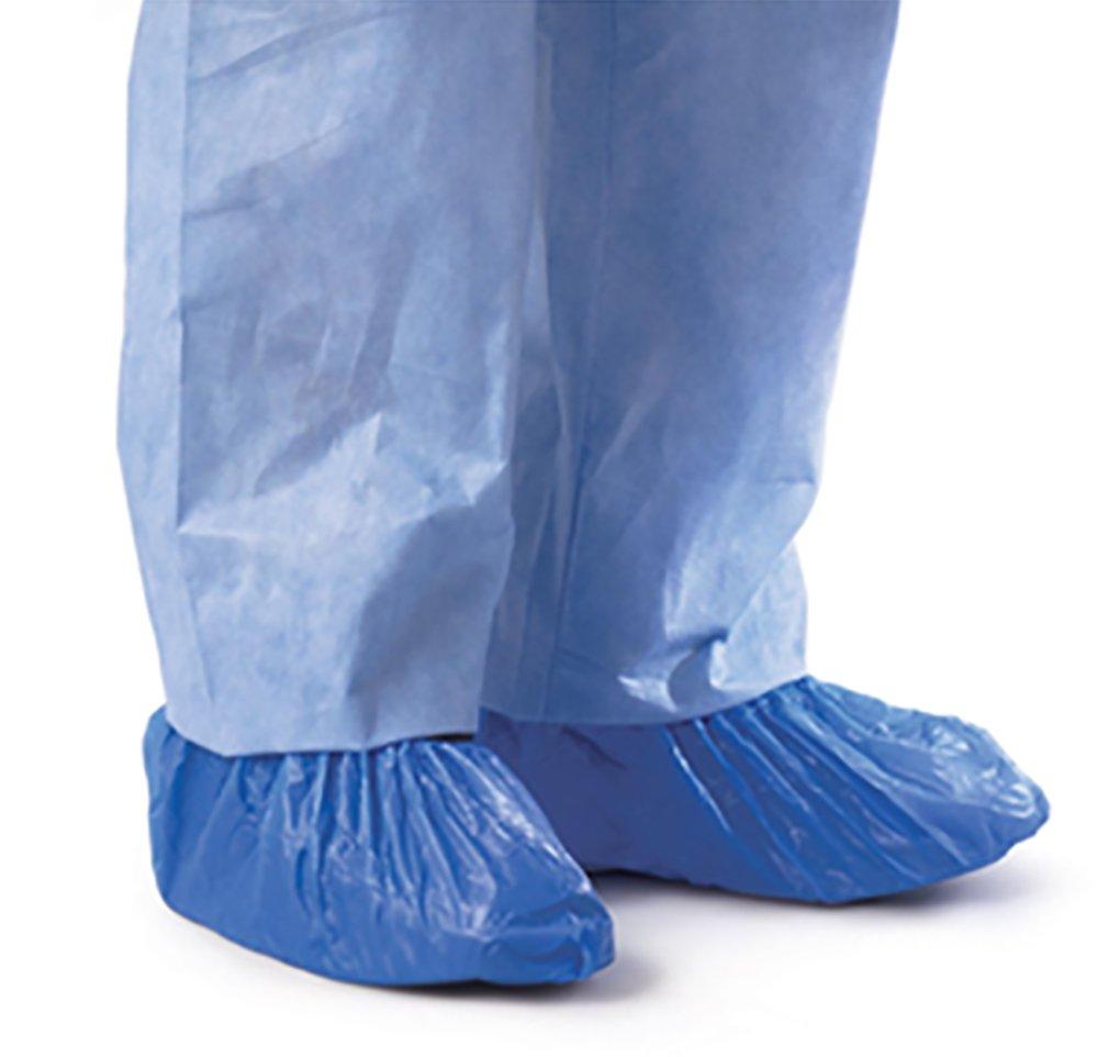 CPE Blue Shoe & Boot Covers (.55 mm)XXL 100 pk