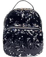 Women School Bag,Kaifongfu Fashion School Style Sequins Travel Satchel School Bag Backpack Bag
