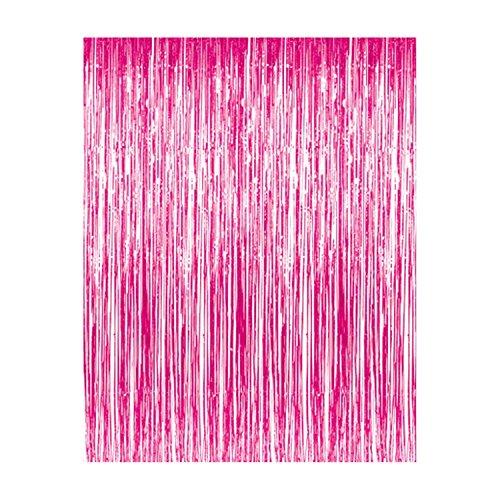 Deco4Fun 3 ft x 8 ft Metallic Foil Hot Pink Fuchsia Tinsel F