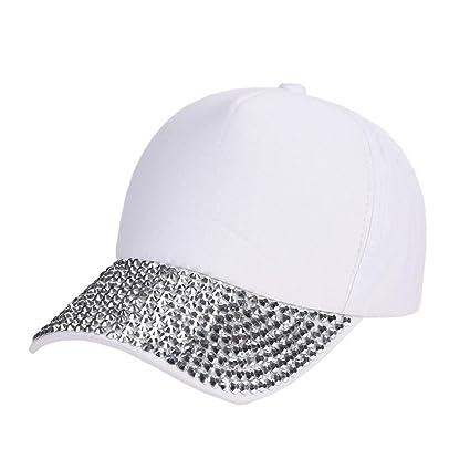 dc57f26dc6c Amazon.com  Botrong Womens New Fashion Baseball Cap Rhinestone Paw Shaped  Snapback Hat (White)  Cell Phones   Accessories