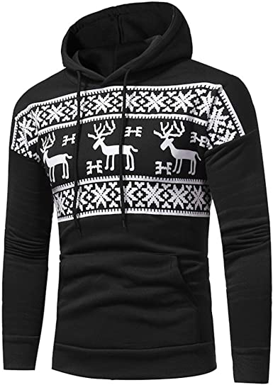 Mens Merry Christmas Tree Print Sweaters Fashion Hoodies Sweatshirts Pullover Casual Basic Lightweight Sport Tops