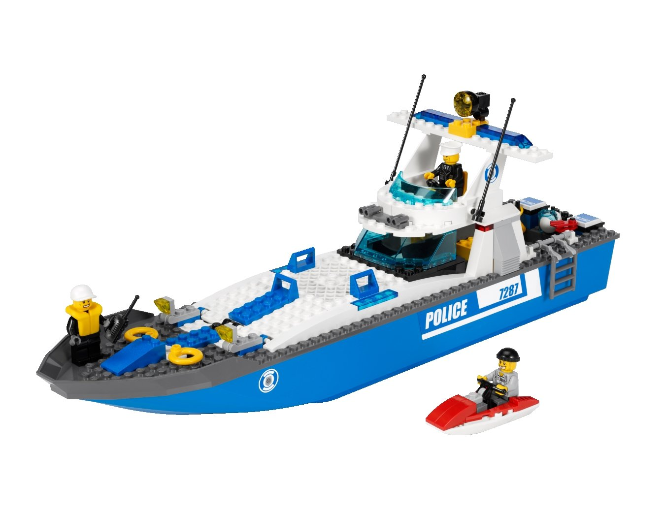 lego city 7287 jeu de construction le bateau de police amazonfr jeux et jouets