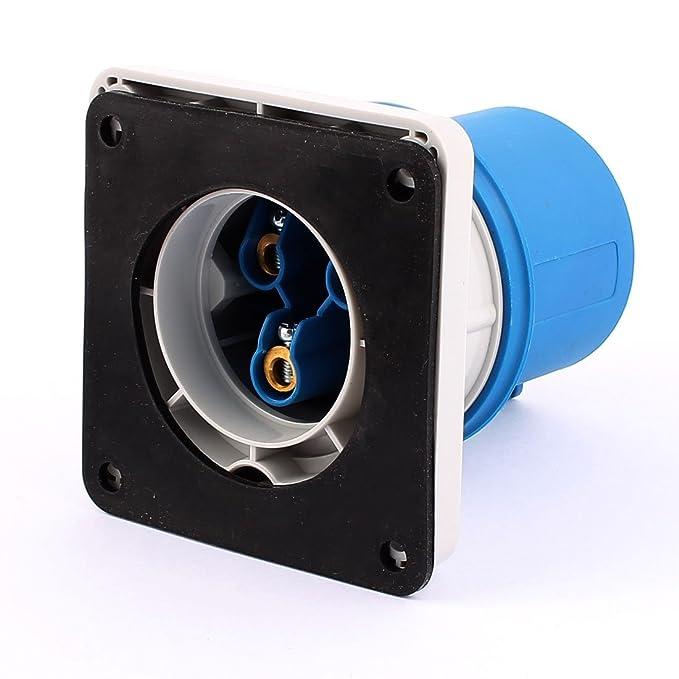 Amazon.com: eDealMax Panel Industrial AC 200V-250V 32A IP44 2P + E 3 Terminal Macho de montaje Plug: Electronics