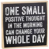One Small Positive Thought Wooden Sign