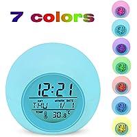 Despertador Digital Electrónico, Lypumso Reloj Alarma con 7
