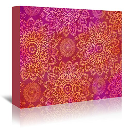 Americanflat Gallery Wrapped Canvas - Mandala 7 - Lebens Art - mandala wall decor