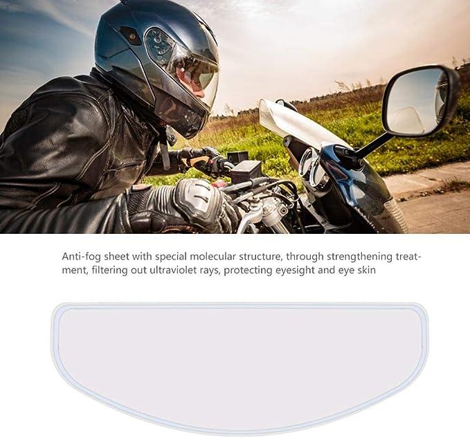Minear Helm Antibeschlagfolie Für Moto Linse Visier Langzeit Vollgesichts Motorradhelm Schutzbrille Aufkleber Antibeschlag Erhöhte Sichtbarkeit Und Vermeidung Von Unfällen Auto