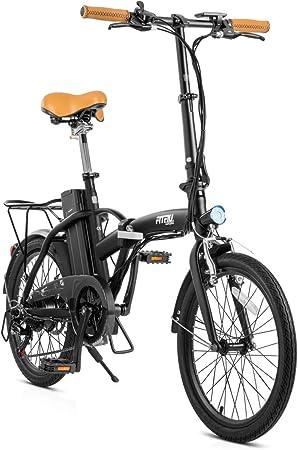 Fitfiu - Compact Bicicleta eléctrica plegable de 20