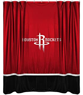 NBA Houston Rockets Shower Curtain 72 X Bright Red