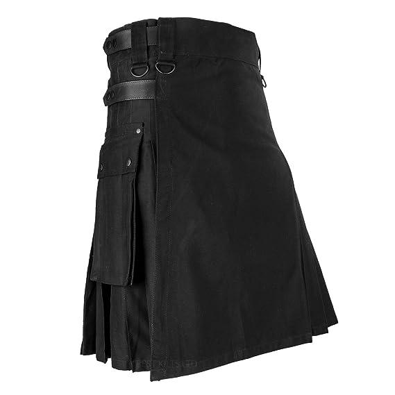 Kilt con correas de piel de color negro: Amazon.es: Ropa y accesorios