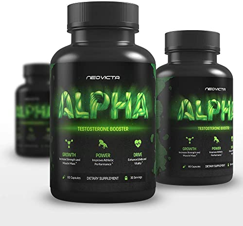 Neovicta Alpha Testosterone Booster for Men – Male Enhancing Pills – Enlargement Supplement – Increase Size, Strength, Stamina Vitality – Fat Loss Muscle Growth Test Boost – 30 Servings