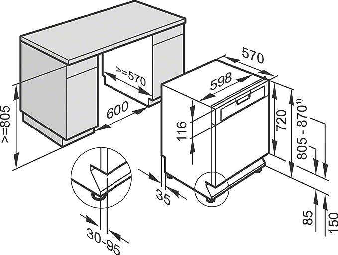 Miele G 4203 SCU CLST Semi-incorporado 14cubiertos A+ lavavajilla ...