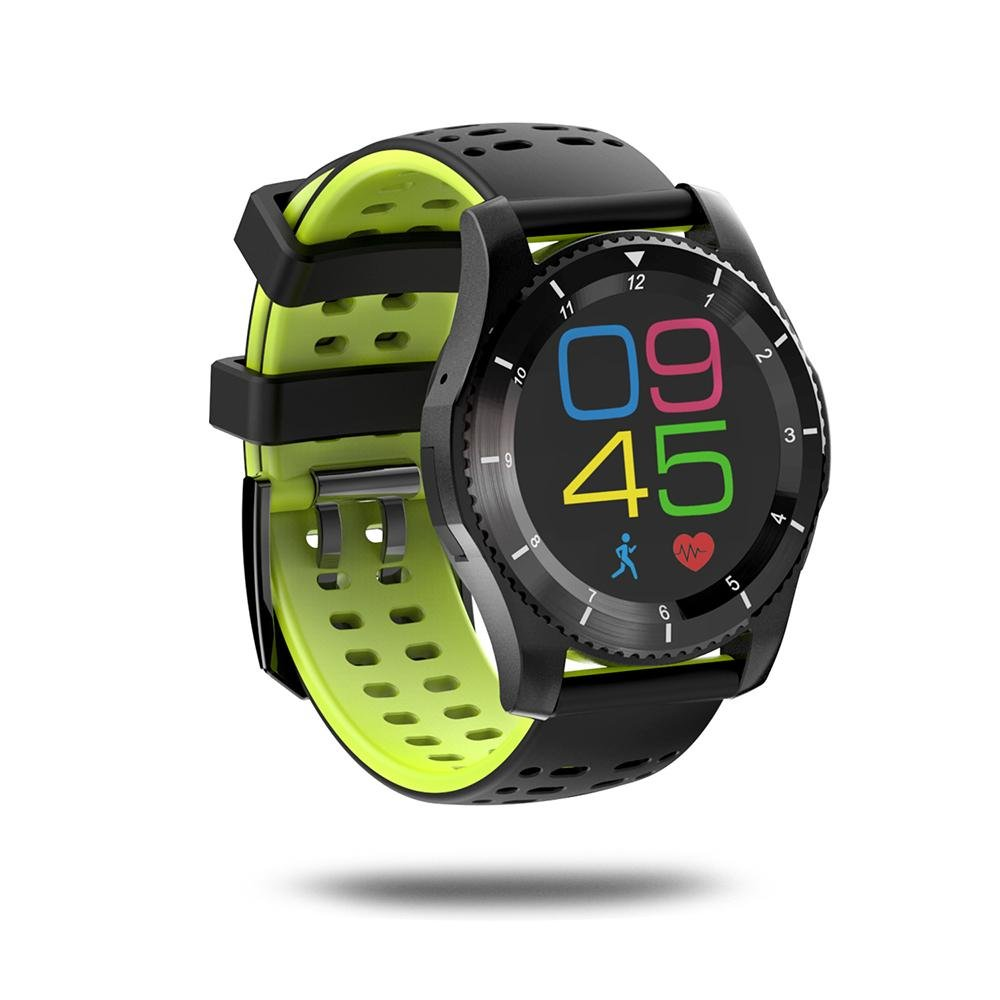 Leegoal(TM) Fashion GS8 Waterproof GPS Smart Watch Blood Pressure Heart Rate Wristwatch Support SIM Card for IOS Android (Green)
