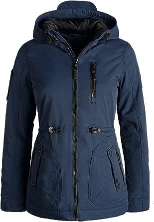 BlendShe Colette Parka De Entretiempo Abrigo Chaqueta para Mujer con Capucha