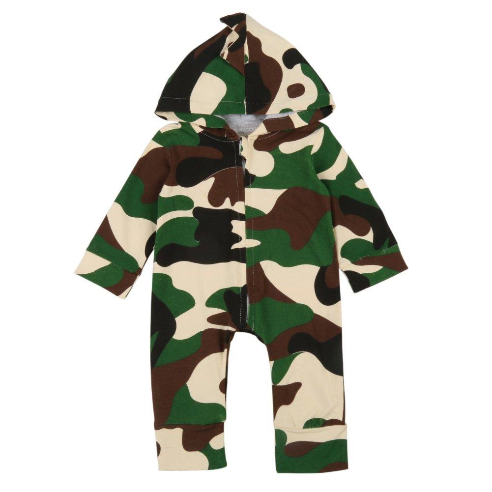 Brightup Abbigliamento da neonato per bebè, tuta mimetica, pagliaccetto, tuta, pigiama, completi