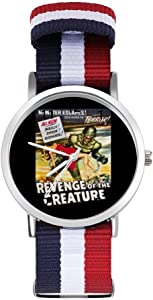 Revenge of The Creature Movie Poster Leisure Strap Watches Braided Watch with Scale