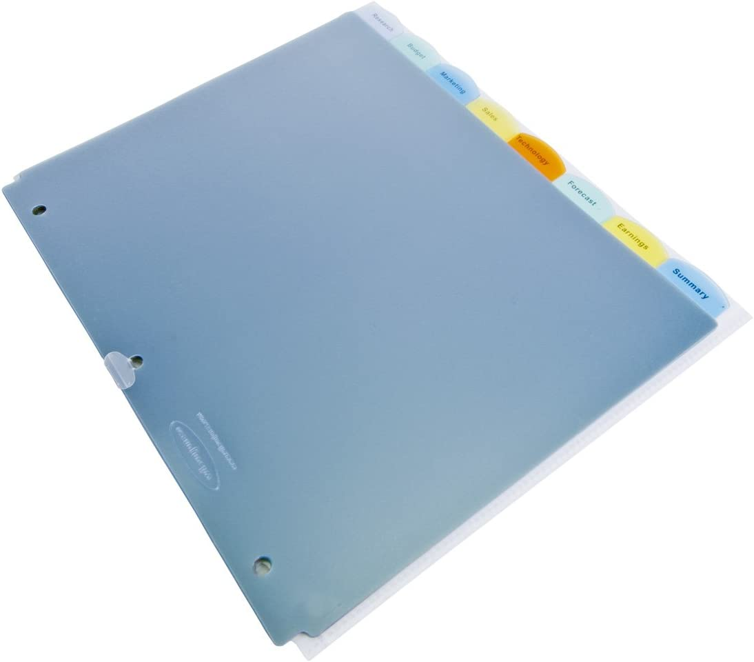 Clear W55020 6 Sets per Pack Wilson Jones View-Tab Transparent Dividers 8 Square Tabs Letter Size
