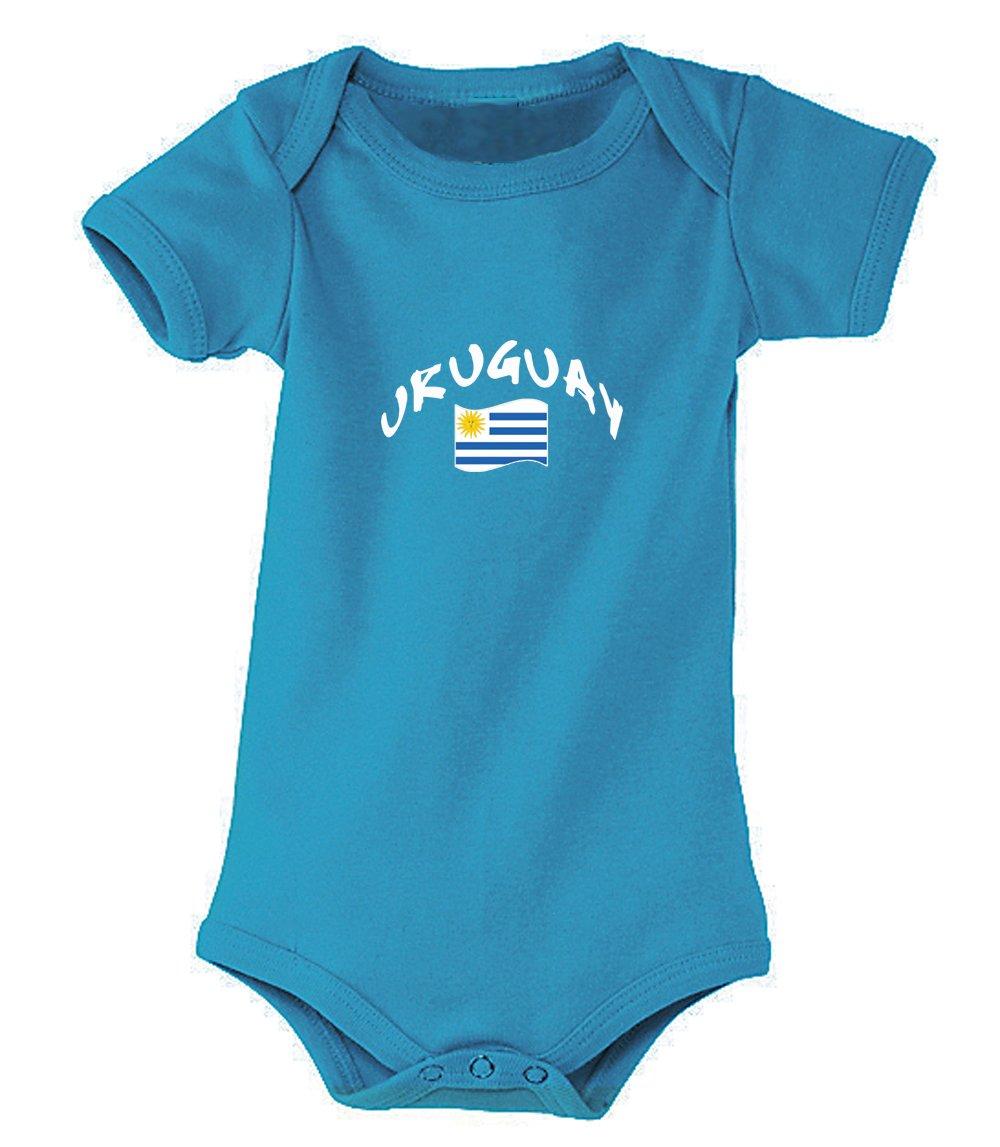 Supportershop–Body Aqua Uruguay Mixta bebé, Azul Aqua, FR: S (Talla Fabricante: 3–6Meses) SUPQM|#Supportershop 5060542525718