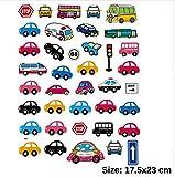 Pegatina transfer parche termoadhesivo coches autobuses para bodys, camisetas, chandal, sudaderas, babys, pijamitas, albornoces, canastillas. de CHIPYHOME
