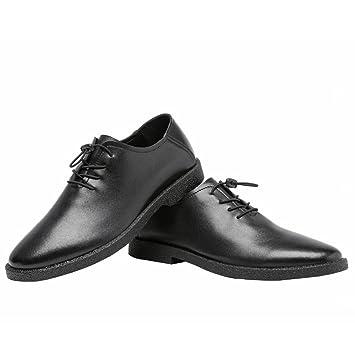 Jiuyue-shoes, Zapatos Bajos para Hombres Mocasines de Cuero Genuino Mate con Cordones Encaje Oxfords Forrados Respirables,Zapatos Oxford Hombre (Color ...