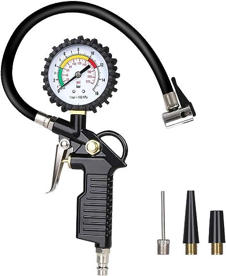 URAQT Manómetro Digital, Manómetro de Neumáticos, Medidor de ...