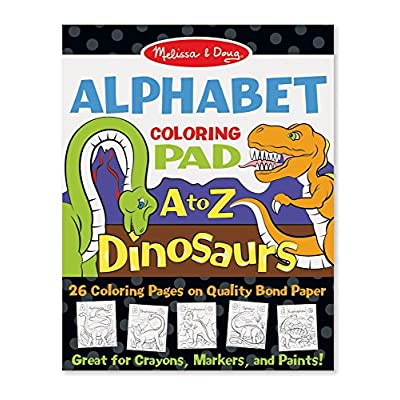 Melissa & Doug 26-Page Animal Alphabet Coloring 11 x 14 Pads, Multicolor: Toy: Toys & Games