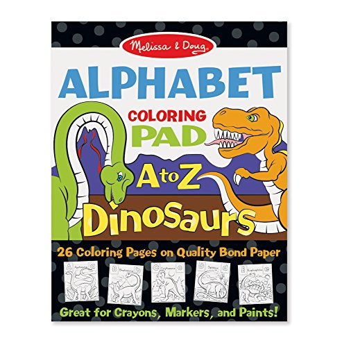 Melissa & Doug 26-Page Animal Alphabet Coloring 11 X 14 Pads, Multicolor