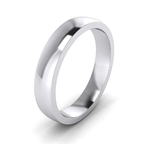 Anillo de boda para mujer, plata de ley, 4 mm
