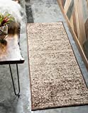 Unique Loom Autumn Collection Rustic Casual Warm Toned Beige Runner Rug (2′ x 6′) For Sale