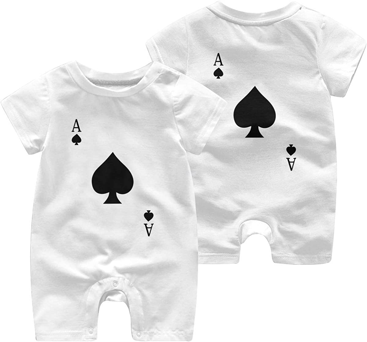 Baby Girls Bodysuits ACE of Spades Poker Baby Rompers